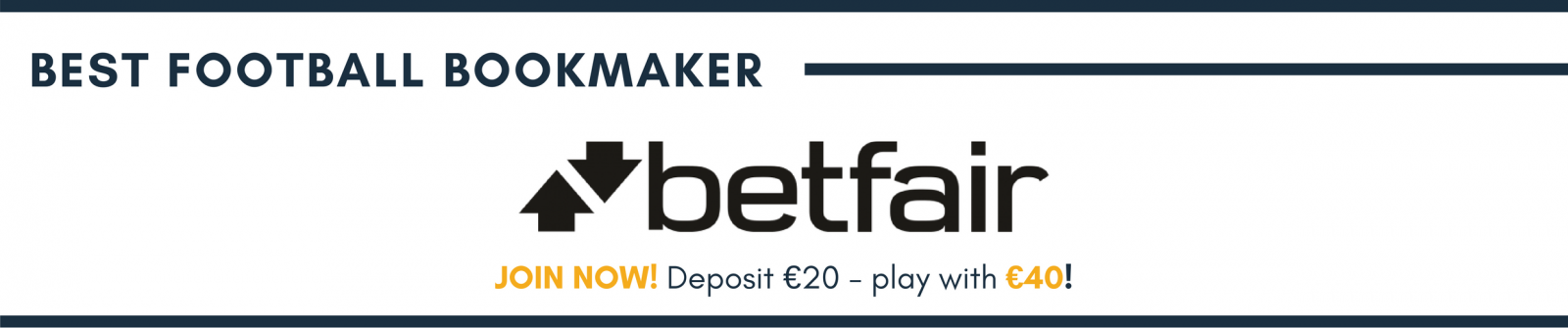Best football bookmaker Betfair