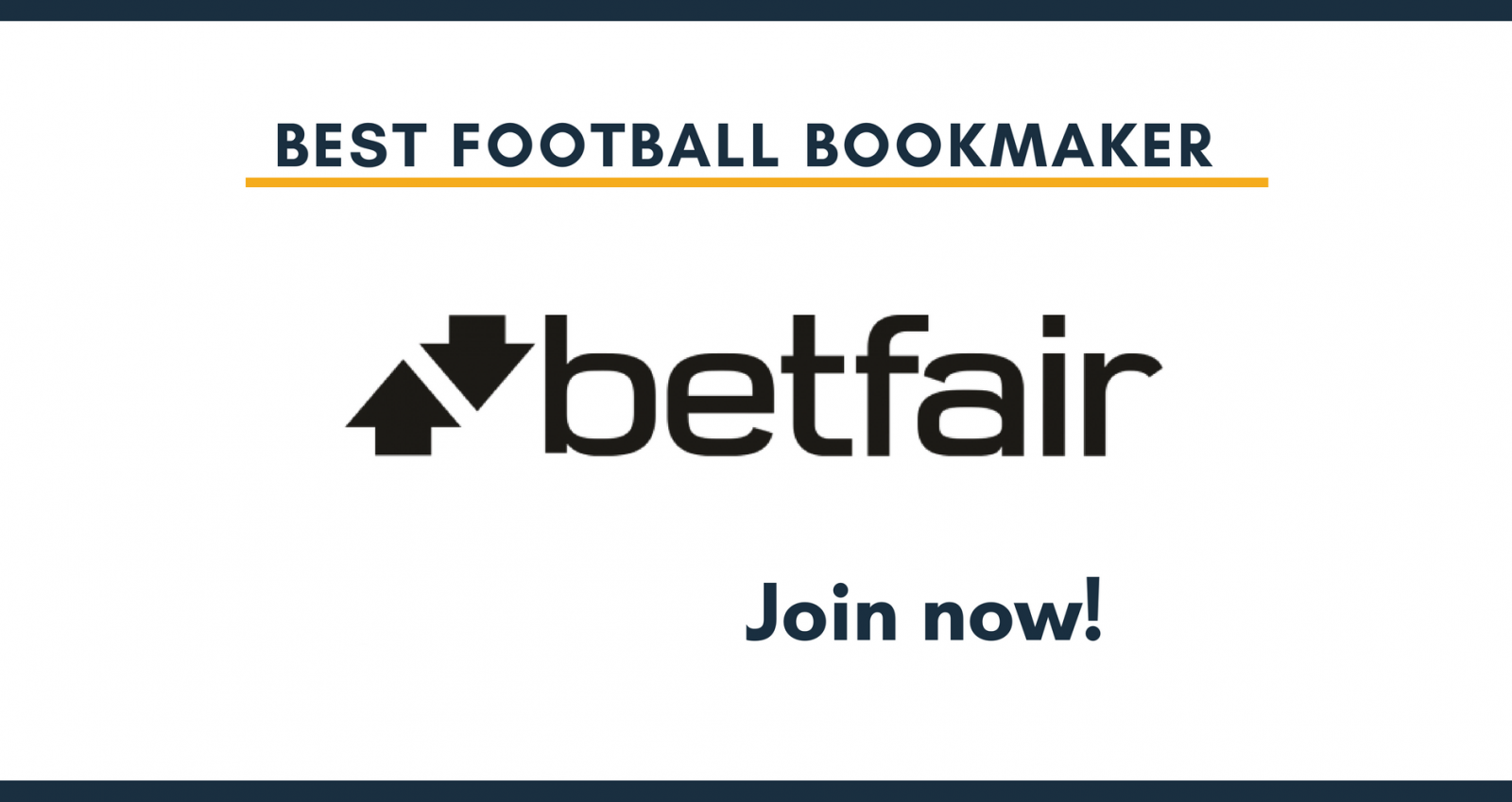 Best footbal bookmaker BETFAIR