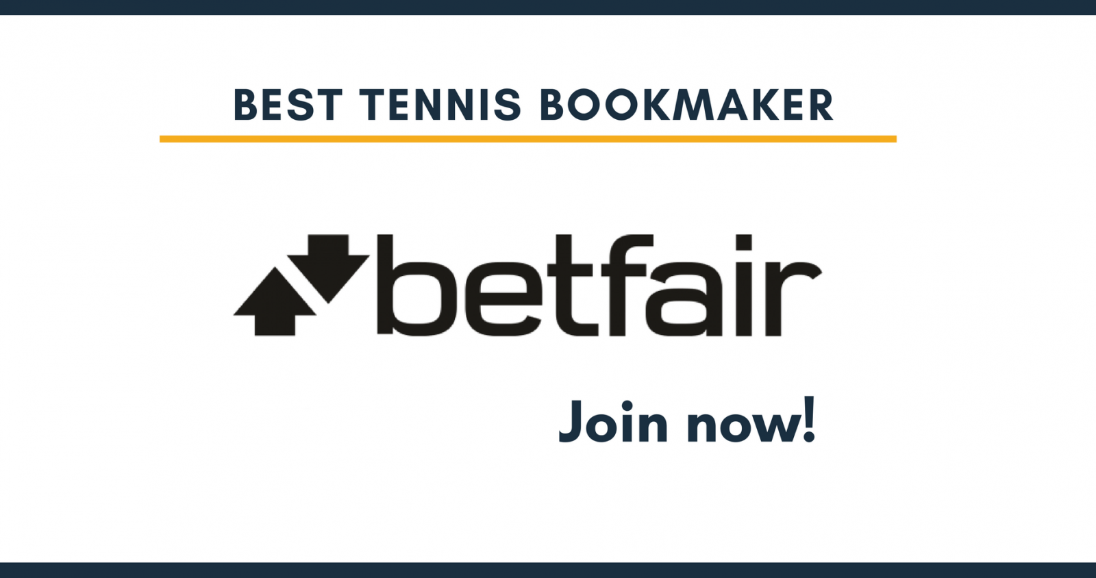 Best tennis bookmaker Betfair