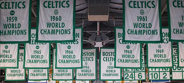Basketball world champions Boston Celtics