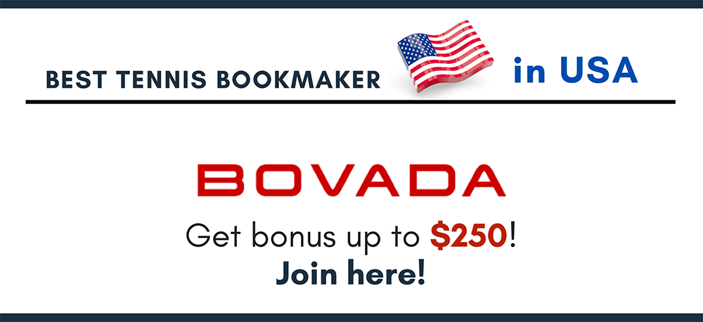 Best tennis bookmaker Bovada