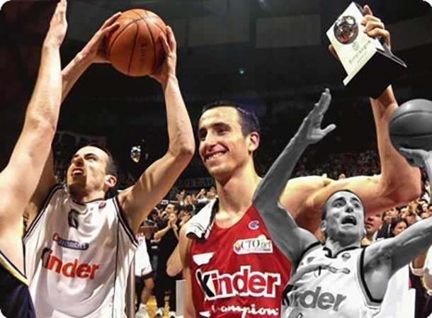 Euroleague players Manu Ginobili